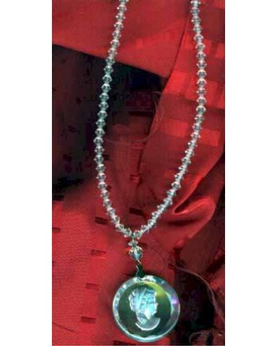 Reverse Carved Cameo Bead Necklace
