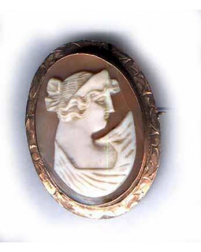 10 KT Rose Gold Turn of the Century Cameo