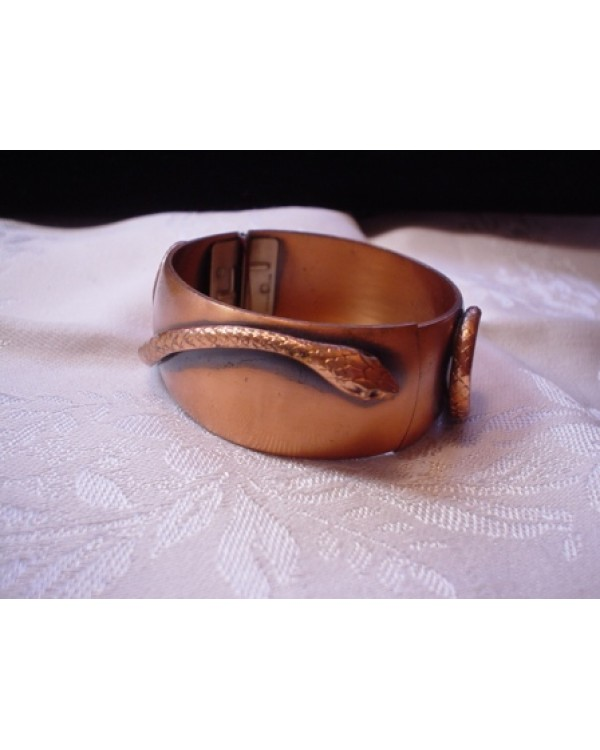 Vintage Copper Cuff with Snake