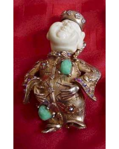 Har Smiling Asian Buddah Earrings