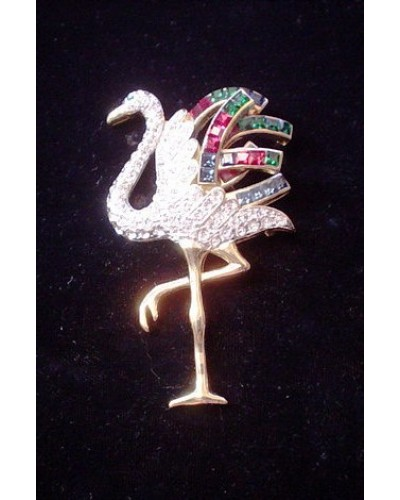 Gorgeous Flamingo Bird Pin