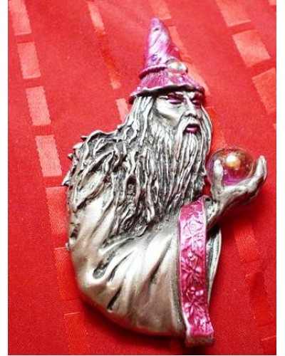 Wizard with Crystal Ball Pin