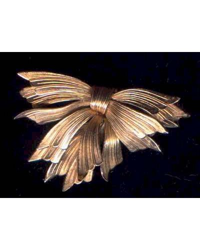 Hobe Gold Filled Bow Pin