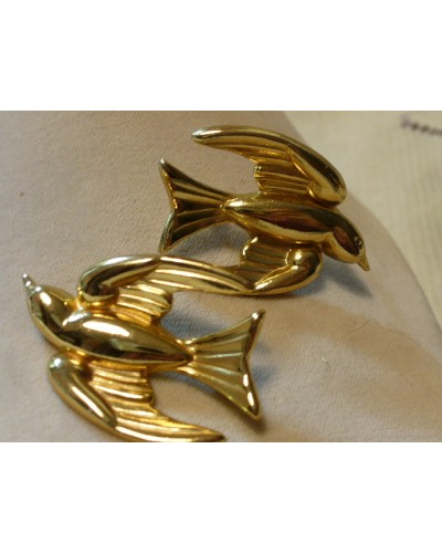vintage Gold Metal CORO bird pins