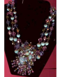 Haskell Style  Breathtaking Necklace -Possible French - Turquoise, Crystal