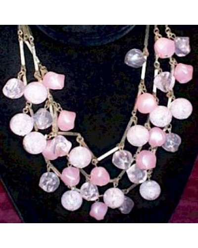 Coro Vintage PINK Bauble Necklace