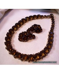 Amber set with Black Net Covering