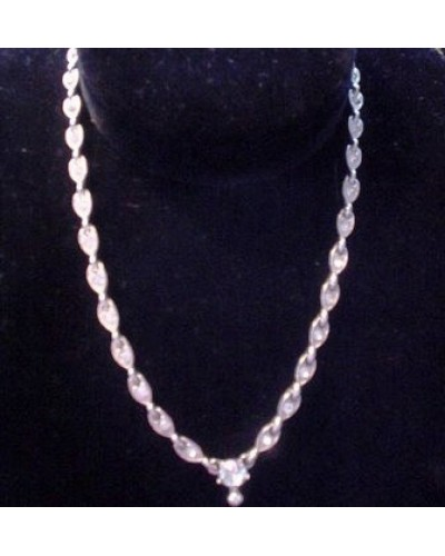 Simple Bogoff signed rhinestone Necklace
