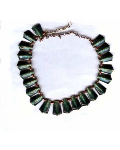 Matisse Green Enamel Necklace