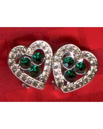 Earrings with Green center stones!