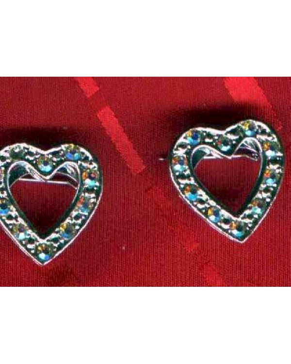 Heart pins with A/B rhinestones