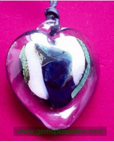 Heart in Crystal Signed  Shawn E. Heart