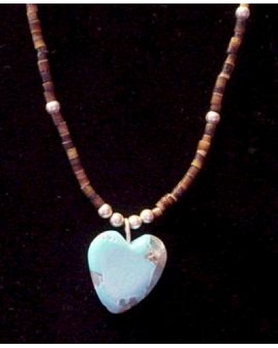 Turquoise American Indian Heart Necklace