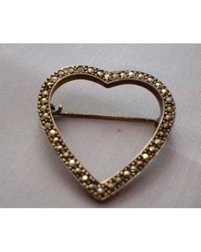 Sterling & Marcasite  Pin