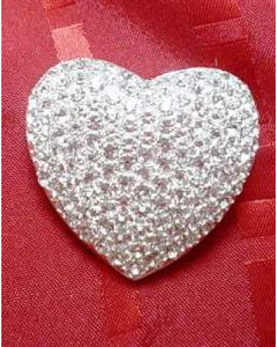 Pave Set Heart Pin