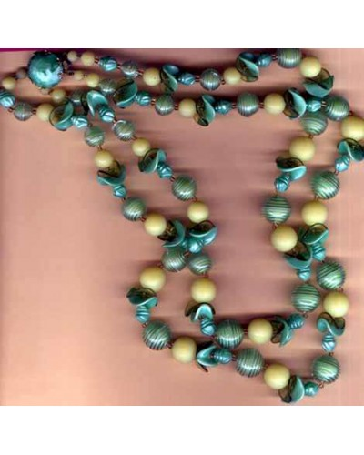 West Germany Bead In Bead Necklace