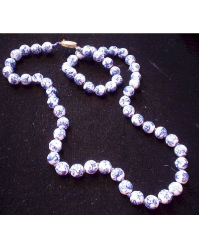 Blue & White Porcelain Beads