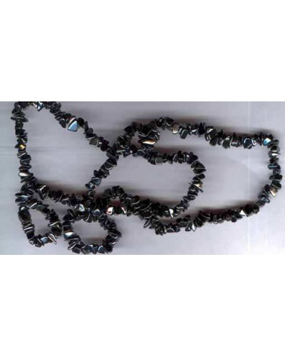 "Hematite 34"" Necklace"