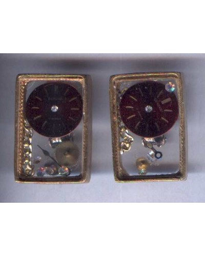 Watch Part Earrings