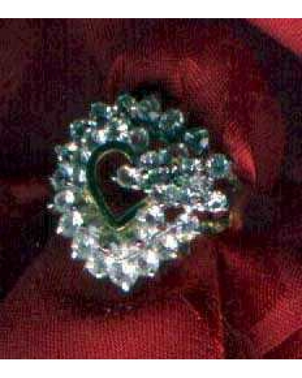 Heart Shaped Costume Ring Sz 7