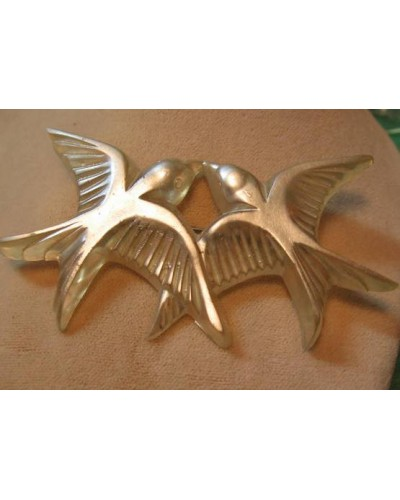 Old Lucite Double Bird Pin
