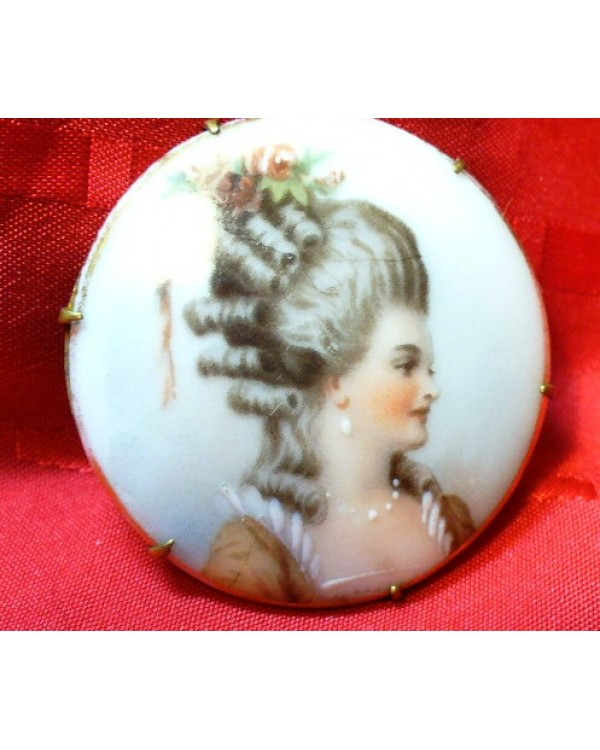 Vintage Hand Painted on Porcelain Portrait