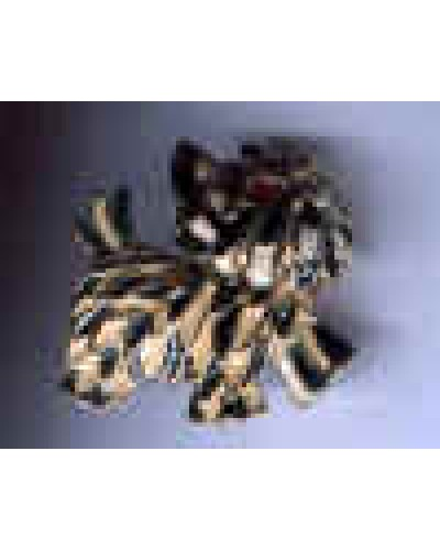 Black & White Enamel Terrier Dog Pin