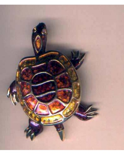 Enamel Turtle Pin by Bouche