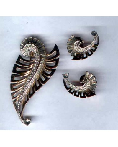 Boucher Vintage Dress Clip and Earring
