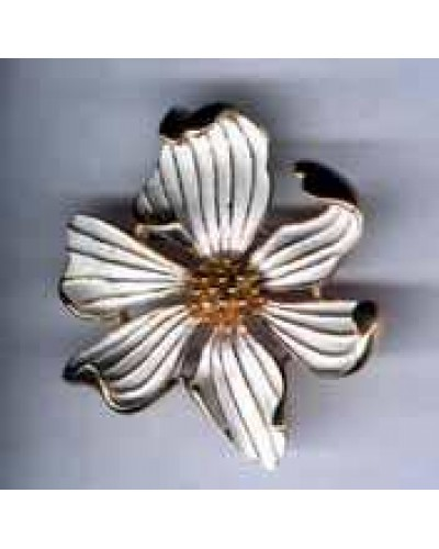 Boucher Enamel Dogwood Flower Pin