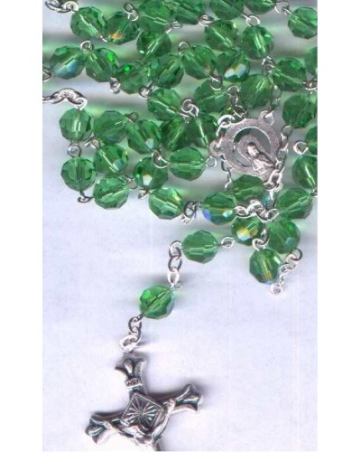Lime Green Crystal Rosary