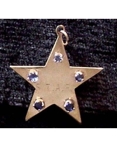 STAR inscription w/ Sapphires