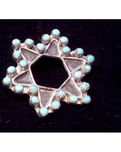 Indian Silver Star Pin