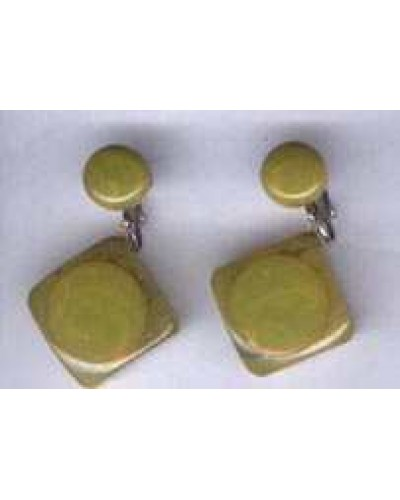 Bakelite Green Polka Dot  Earrings