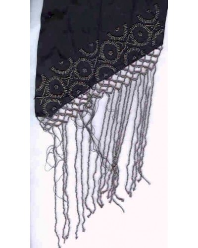 Victorian Sash with Steel Beads