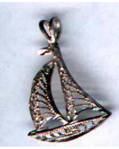 "1 1/4"" Sterling Sailboat"