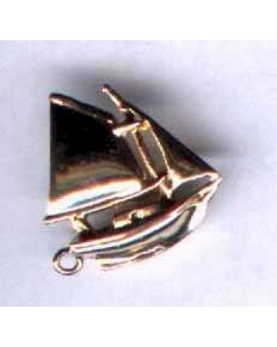 "1"" goldtone Sailboat"