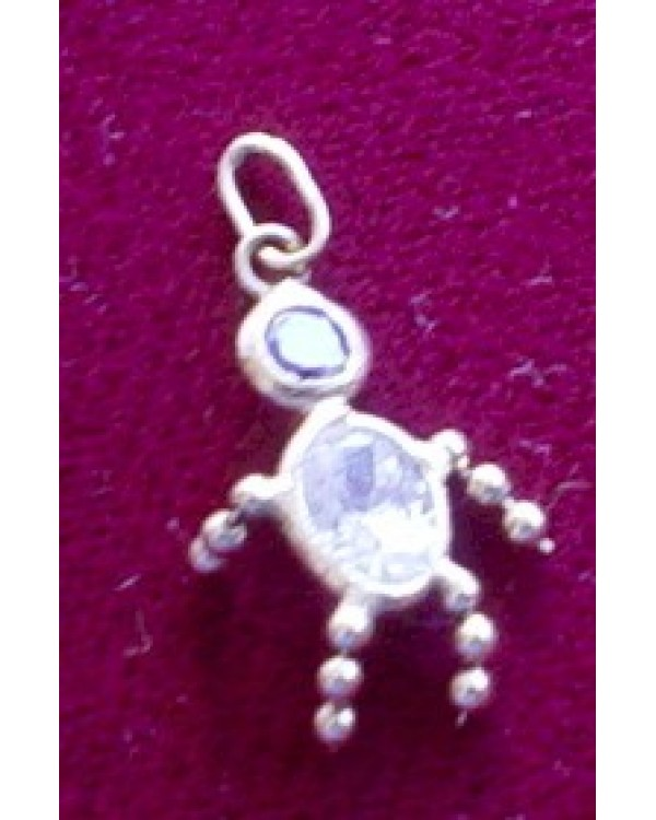 14 KT Gold Little People Charm-Amethyst Head