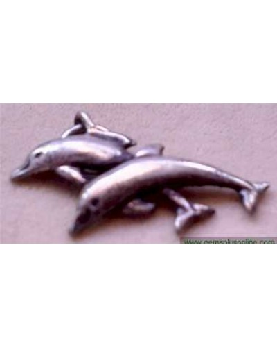 "Dolphins 1 1/4"" Sterling"