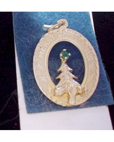Gold Washed Sterling Merry Christmas Charm