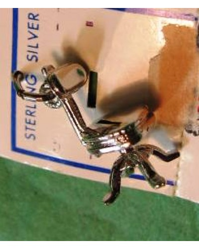 "Sterling 3/4"" old Chair Charm"
