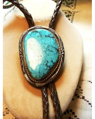 Turquoise  & Sterling Bolo