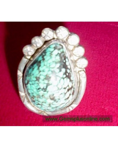 Turquoise Ring - Huge Cabachon