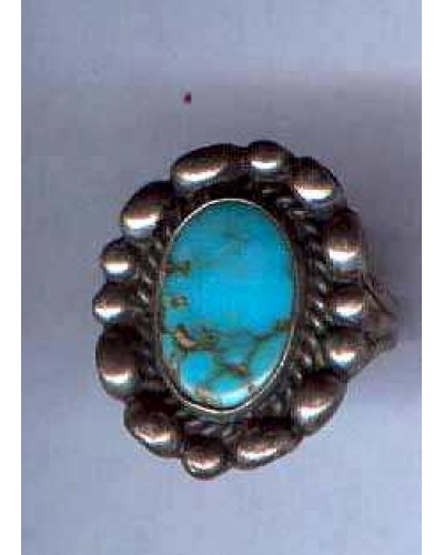 Turquoise Sterling Ring -Sz