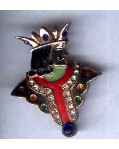 Sterling& Enamel  King Pin