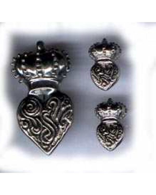 Sterling Crown & Heart signed Natacha!